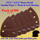 60X Mouse Detail Sander Sandpaper Hook & Loop 120 Grit For Black & Decker Dewalt