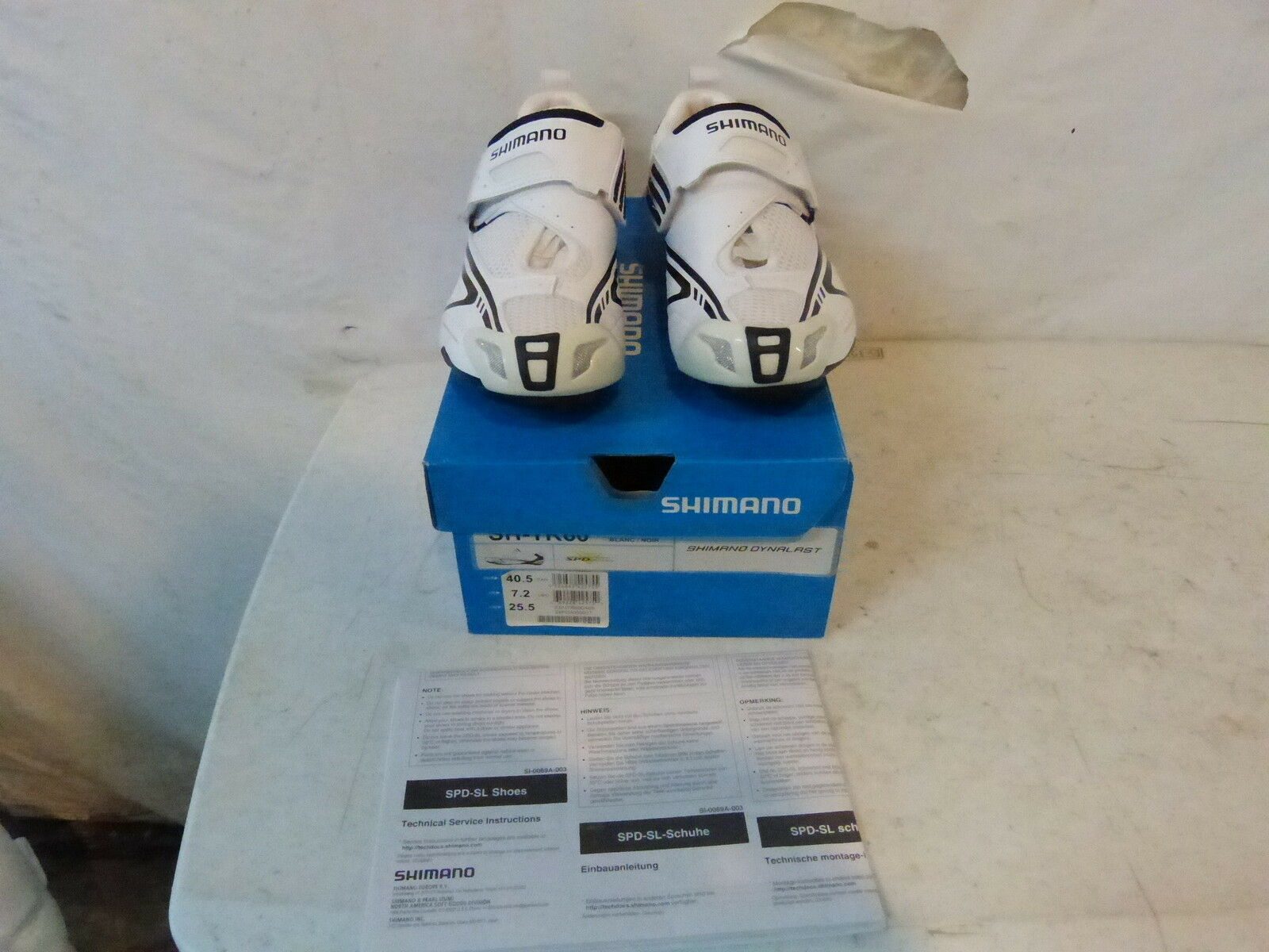 Shimano SH-TR60 Para hombre Zapatos EU 40.5 nos 7.2 al por menor  250 blancoo Negro