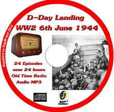 D-Day Landing WW2 6th June 1944 Old Time Radio Broadcast OTR MP3 CD