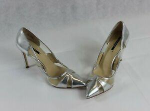 Zara Basic Silver Pumps Stiletto Heel