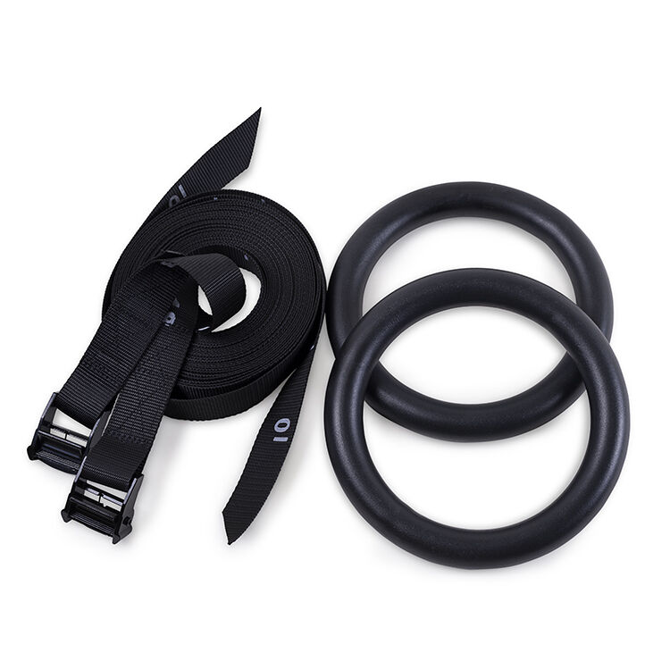 Valkyrie Elite Gym Rings -17ft With Numbered Straps and Clasps Twice Normal Size