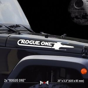 X ROGUE ONE X WING Squadron Star Wars Car Vinyl Stripes Sticker - Star wars car decals
