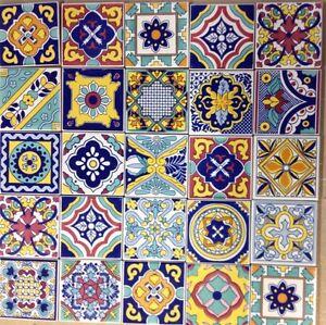 Ceramica vietri patchwork piastrelle 10x10 decorate con serigrafia a mano 100pz ebay - Piastrelle bagno vietri ...