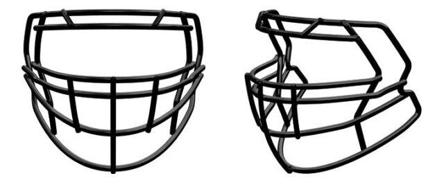 Riddell Revolution SPEED S2BD-LW Football Helmet Facemask LIGHTWEIGHT