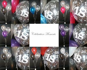 Happy Th Birthday Party Helium Balloon Decoration DIY Clusters - Table decoration ideas for 18th birthday