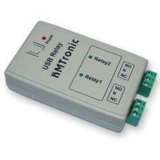 KMTronic USB 2 Kanal Relaiskarte, Seriell Relai relaisplatine, BOX