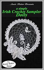 Annie Potter Presents Irish Crochet Sampler Doily PDF Download only!