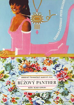 THE PINK PANTHER Ultra Rare Original Czech Poster PETER SELLERS BLAKE EDWARDS