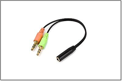 Smartphone Headset Zu PC Adapter Konvertiert 3.5MM Stecker Dual Mikrofon/Audio