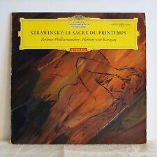 DGG SLPM 138 920 TULIP RED STEREO LP VON KARAJAN Stravinsky RITES OF SPRING