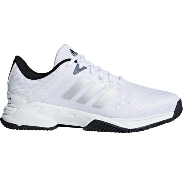 check out a0314 334d7 Mens Adidas Barricade Court Wide White Sport Tennis Athletic Shoes CM7817  Size 9