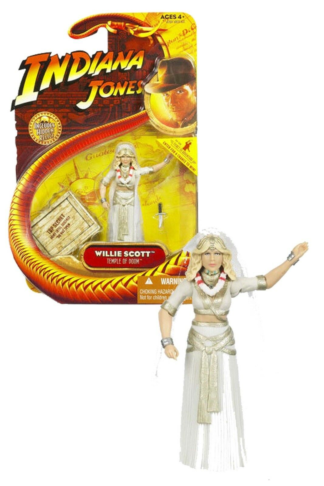 NEW 2008 Willie Scott 3 3 4 Indiana Jones Temple Doom Action Figure by Hasbro