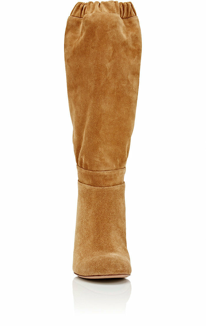 Chloe Slouchy Knee Knee Knee braun Stiefel Leather Suede  1350 38.5 US 8.5, Gorgeous f9fcf2