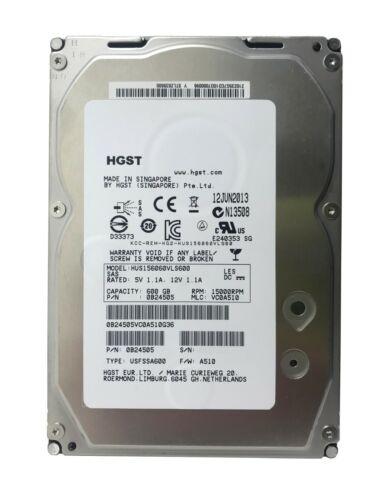 HITACHI 600GB 15K SAS 3.5 LFF ULTRASTAR 15K600 6GB//S HARD DRIVE HUS156060VLS600