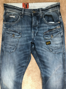 G-STAR-NATTACC-Straight-Fit-Jeans-5204-Mens-Medium-aged-da-uomo-W30-L34-Ref72-13