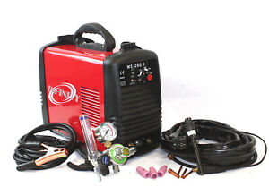 200 Amp DC Inverter TIG & ARC STICK MMA Welding Steel Welder W/Argon Flow Meter
