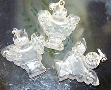 Guardian Angel Clear Rock Quartz Crystal Pendant, Reiki Blessed in Lavender Bag