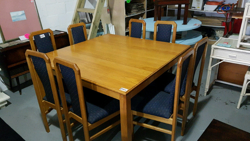8 Seater table plus chairs.