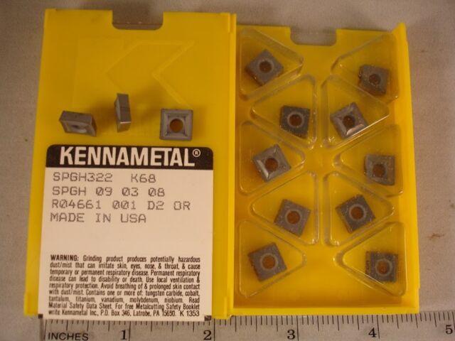 SPGH 322 K68 KENNAMETAL Carbide Inserts (10pcs) 425