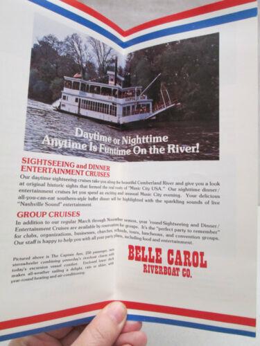 Vintage Nashville Riverboat Cruises Brochure Belle Carol Riverboat Co Steamboat