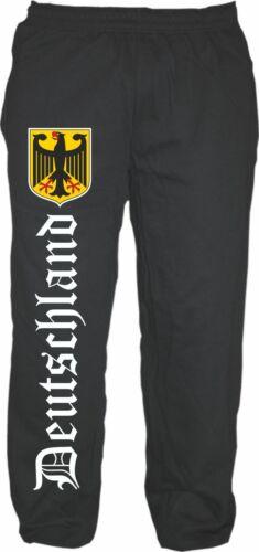 L/'Allemagne en survêtement-altdeutsch avec écusson-RFA Fan Pantalon GERMANY EM WM