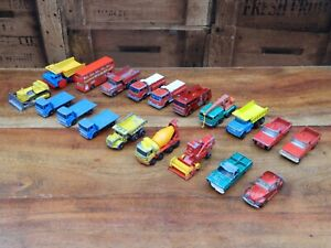 Bundle-of-19-Vintage-Matchbox-Lesney-Die-Cast-Commercial-Vehicles-Job-Lot