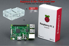 RASPBERRY Pi 3 Model B (2016) & 16GB Ultra Fast SD card & Plastic case