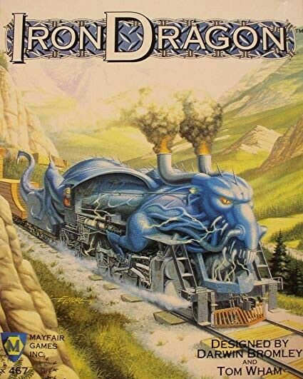 Iron Dragon  Rail building in a Fantasy Land - Vintage Board Game Mayfair