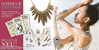Gold und Silber Tattoos Metallic temporary einmal Klebe Tattoos Sticker Henna