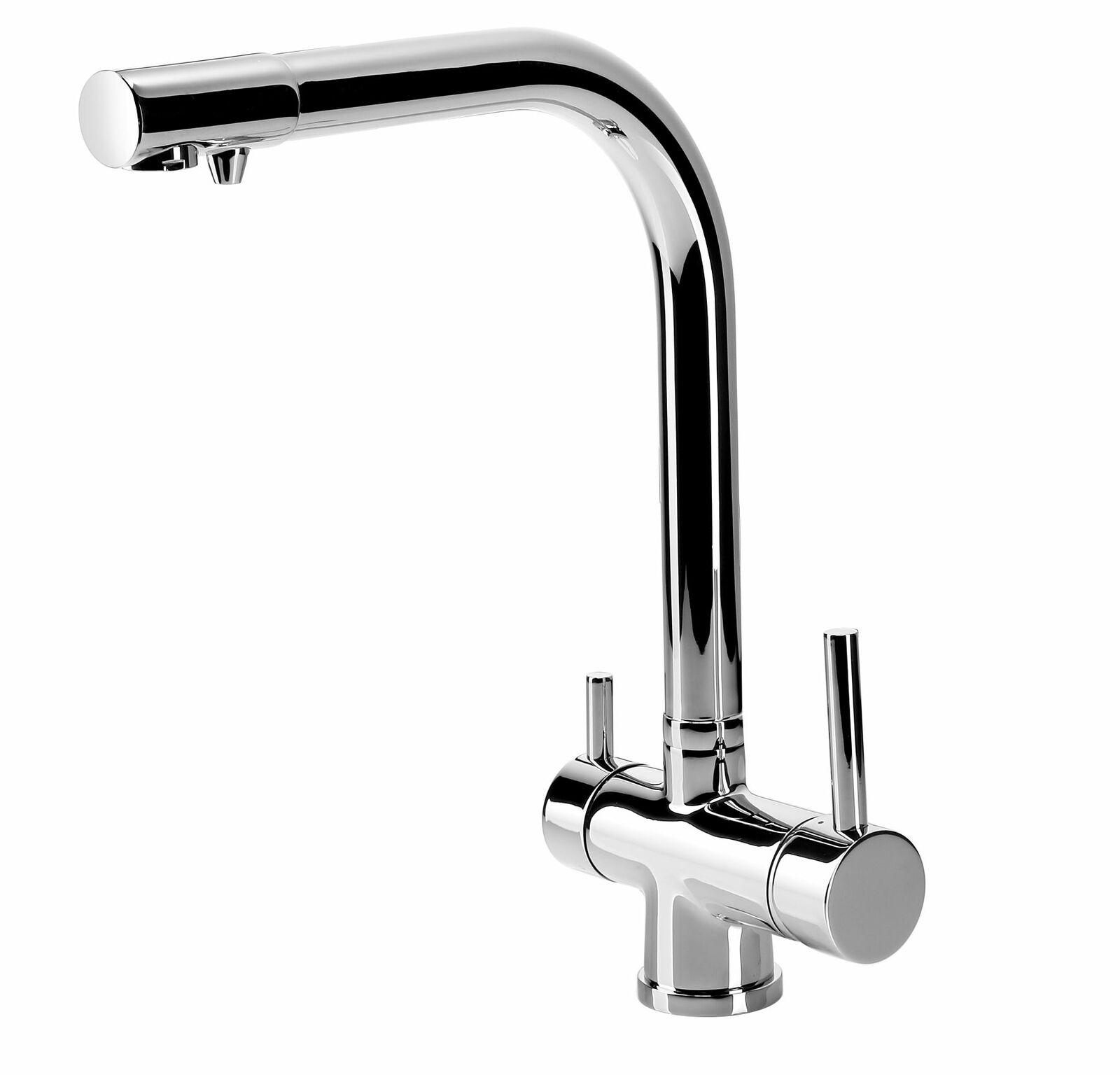 Küchenarmatur mit Wasserfilteranschluss Drei Wege Wasserhahn Spültischarmatur AA