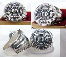 Fire Fighter  RING  SILVER 925.