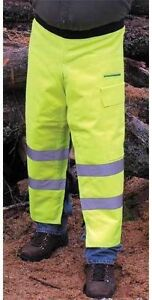 """length 35/"""" 37.5 /"""" Green  SAFETY CHAPS Chainsaw Apron Style Reg"""