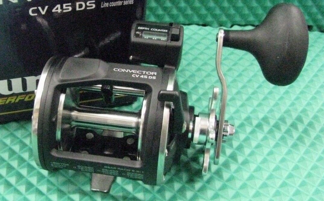 New Okuma Convector HIGH SPEED 6.2:1  Trolling Line Counter Trolling  Reel CV-45DS dc6686