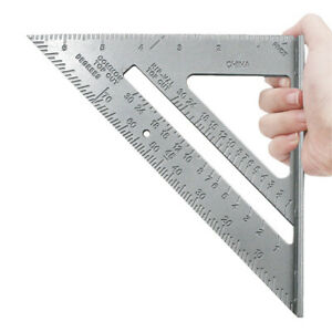 """7"""" ROOFING SPEED SQUARE ALUMINIUM RAFTER ANGLE FRAME MEASURE TRIANGLE RULER"""