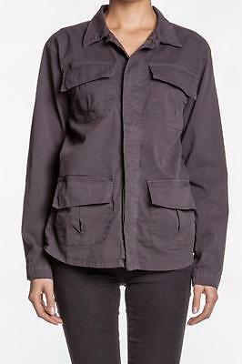 NSF Clothing Laos Top Sulpher parka Jacket Grey Button Pockets Gray NEW Designer