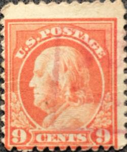 Scott-509-US-1917-9-Cents-Franklin-Postage-Stamp-Perf-11