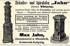 Max Jahn Leutzsch Leipzig Turnhallen- Ofen Historische Reklame von 1907