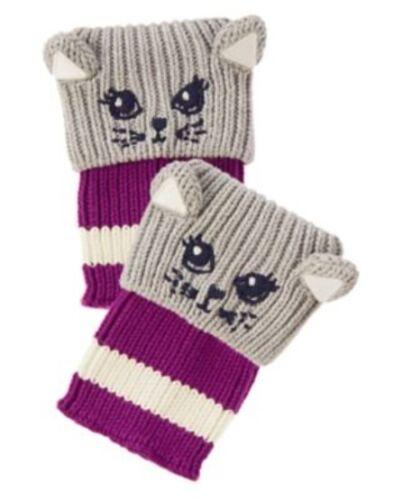 GYMBOREE POLAR PINK CAT BOOT SWEATER CUFF BOOT CUTIES 1-SIZE 3 4 5 6 7 8 10 NWT