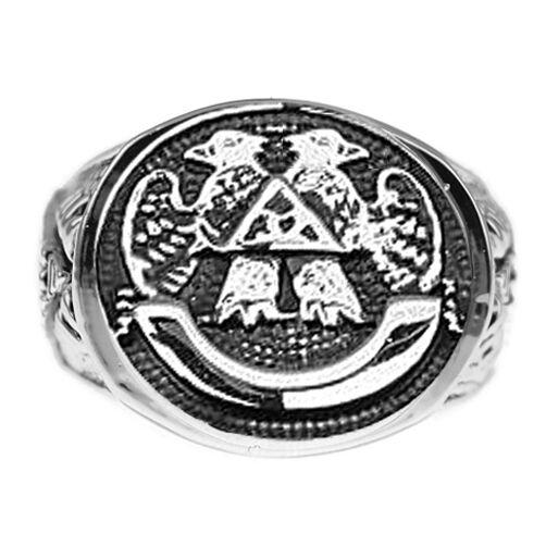 Freemasonry - Free Mason Ring - Scottish Rite 32nd Degree Eagles - Masonic Rings