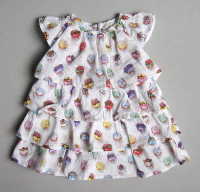 Gucci Baby Girls 3 6 Mo Cupcake Ruffle Dress EUC Tiered White