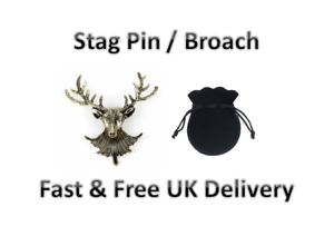 Bronce Antiguo Cabeza De Ciervo Pin Broche Broche Retro Inteligente Chaqueta para hombre de moda de Reino Unido
