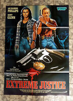 EXTREME JUSTICE * VIDEO-POSTER A1 -German 1-Sheet ´93  Lou Diamond Phillips