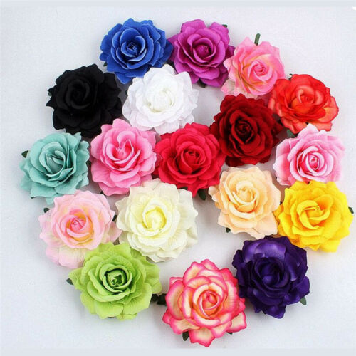 Big Blooming Rose Flower Wedding Bridal Hair Clip headpiece Brooch Pin Gn /&T