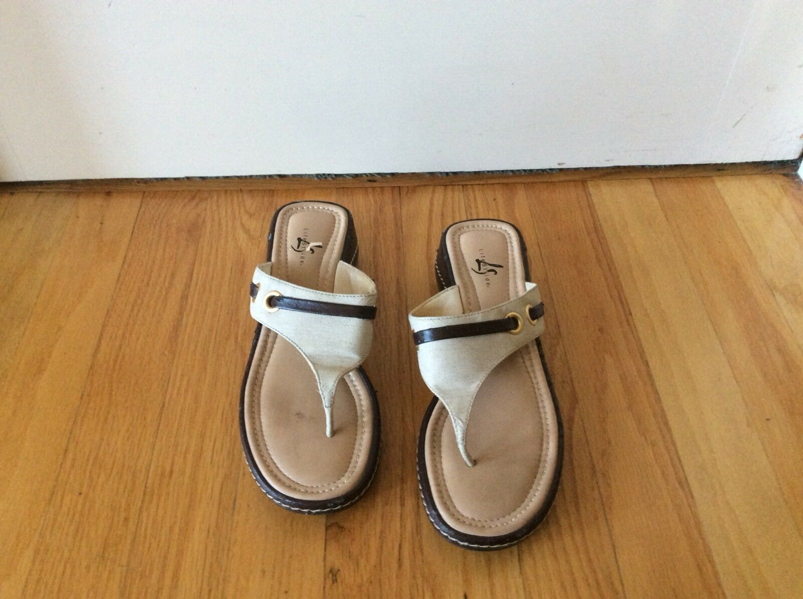 Lifestride Canvas Slip On Sandals 7 Size 7 Sandals 08b8a1