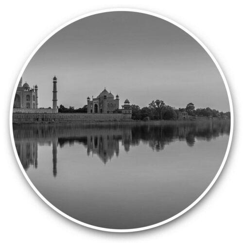 bw Taj Mahal Yamuna River India  #35928 2 x Vinyl Stickers 7.5cm