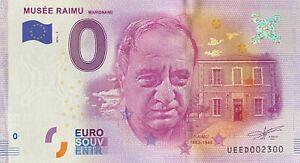 BILLET-0-EURO-MUSEE-RAIMU-MARIGNANE-FRANCE-2016-NUMERO-2300
