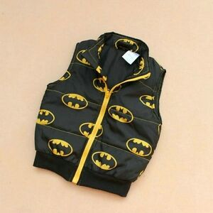 NEW-Children-Kids-Toddler-Boy-Superman-Batman-Zip-polyester-VEST-size-3