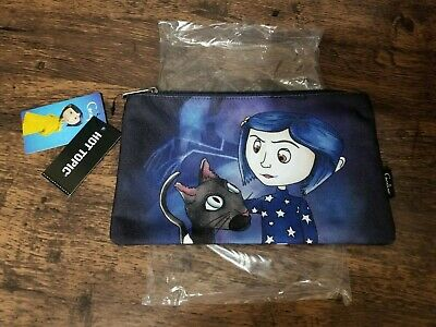 Loungefly Coraline Black Cat Stars Cosmetic Makeup Bag Nwt New With Tags Ebay