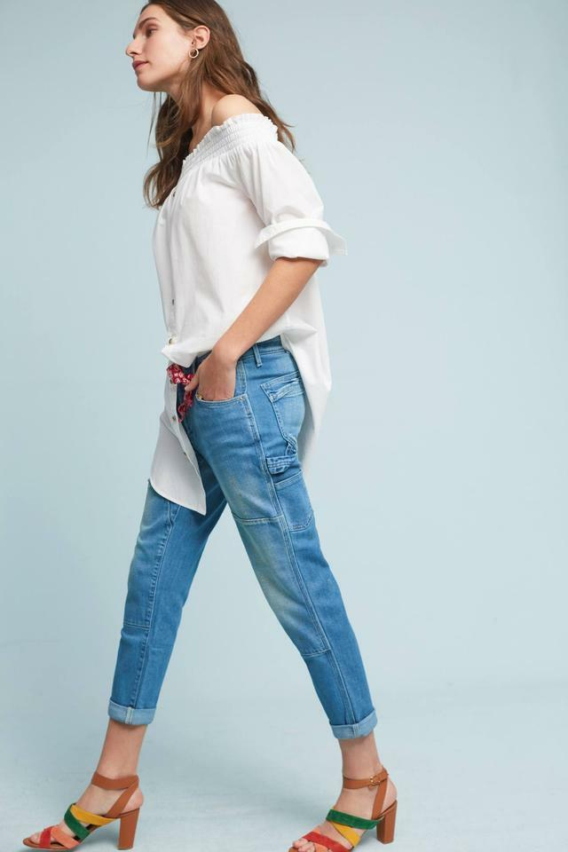 NWOT ANTHROPOLOGIE PILCRO CARPENTER MID RISE RELAXED JEANS sz 30 as is