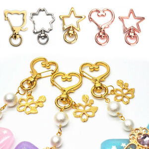 10Pc-DIY-Star-Cat-Shape-Hooks-Lobster-Clasps-Clips-Alloy-Keychain-Matel-Jewelry